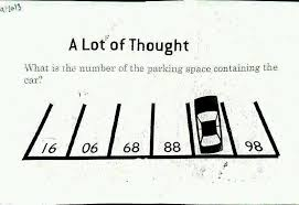 a lot of thought parking number puzzle puzzlersworld