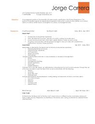Culinary Resume Skills Culinary Resume Template