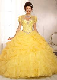 embroidery and beading on a tulle ball style quinceanera dress