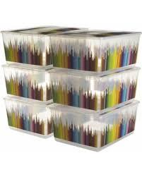sweet deal on 6 pack kis urbin large plastic storage bins with