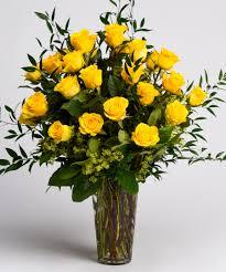 Long Stem Rose Vase Send 2 Dozen Yellow Roses Vase Norwood Ma Florist