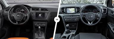 volkswagen tiguan 2016 interior volkswagen tiguan vs kia sportage comparison carwow