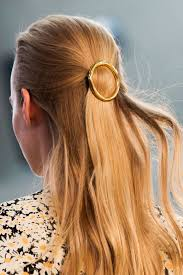 womens hairstyle spring 2015 spotted at céline gold hair barrettes celine barrette and gold