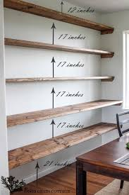 Wood Gallery Shelves by Best 25 Living Room Shelves Ideas On Pinterest Living Room