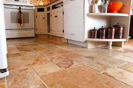 top stone tile kitchen floor stone flooring ideas stone tile kitchen floor with tiles stunning travertine at lowes and for shelves canister set also maple cabinet white appliances