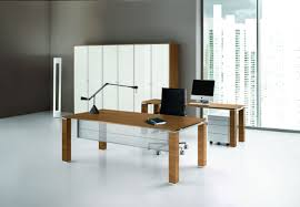 executive desk wooden glass contemporary jet bralco