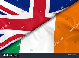 Flag Of The Uk Flags United Kingdom Ireland Divided Diagonally Stock Illustration