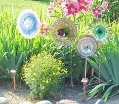 outdoor garden glass decor ideas garden decoration ideas
