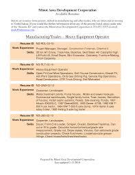 Machine Operator Resume Examples by Resume Heavy Equipment Operator Resume