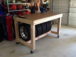 workbench with tire storage front pinteres workbench with tire storage front more mobile workbenchgarage workbenchdiy