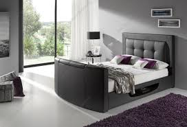 Double King Size Bed Kaydian Bowburn Brown Or Black Leather Tv Bed U2013 Double King Size