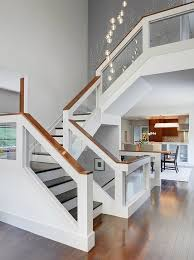 Glass Stair Banister Captivating Interior Stair Handrail Ideas 64 In Modern House With