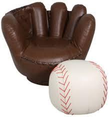 baseball chair and ottoman set crown mark baseball glove chair ottoman ottomans crown and