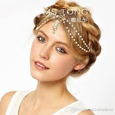 hair accessories india bohemian india style forehead headband chain pearls with