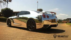 nissan gtr wrapped red thoughts on silver blue chrome wrap gt r register nissan