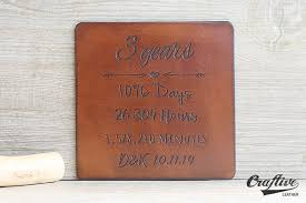 leather anniversary gifts for him 3rd anniversary gift leather coasters