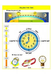 english worksheet telling the time introduction part i