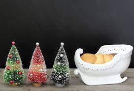 miniature artificial trees antique farmhouse