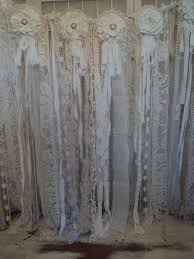 Wedding Backdrop Ebay Fabric Vintage Lace Banner Wedding Pearl Garland Shabby Chic Boho