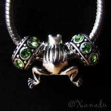 pandora style charm necklace images Frog european large hole charm and birthstone spacer beads jpg