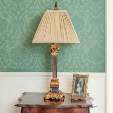 antique edwardian gold table lamp