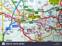 Liverpool England Map by Road Map Of Darlington Northern England Stock Photo Royalty Free