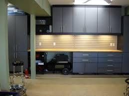 exterior garage cabinet storage with checkerboard tiles