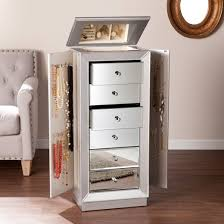 Armoire Chest Of Drawers Jasmine 6 Drawer Glam Jewelry Armoire Mirrored Target