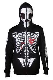 Halloween Skeleton Top by Mens Full Face Mask Skeleton Skull Hoodie Sweatshirt Halloween