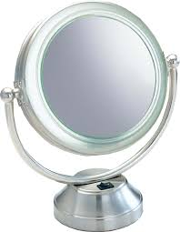 best lighted magnifying makeup mirror amazon com fluorescent coolitetm lighted 8 1 2 double sided
