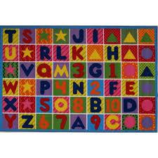 kids rugs fun rugs numbers and letters kids rug walmart com