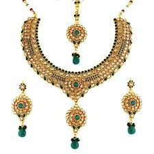 antique jewelry necklace sets images Elegant traditional gold plated antique jewellery set ethnic jpg