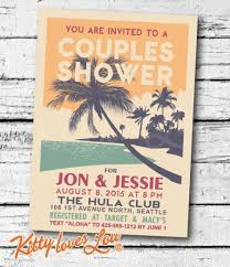 couples shower printable couples shower invitation digital pdf retro hawaiian