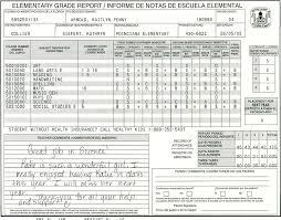 blank report card template elementary school report card template homeschooling