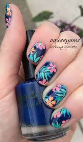 tropical nails nail design nail art nail salon irvine newport
