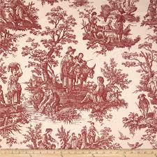 decorating beautiful drapery and upholstery toile fabric idea