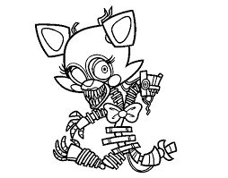 fnaf mangle coloring pages mangle from five nights at freddy s coloring page coloringcrew