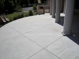 fresh finest scored and stained concrete patio 4948