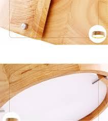 Wohnzimmerlampe Eiche Deckenleuchte Holz Led Rund Eiche Deckenlampe Decken Lampe