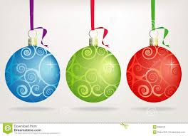 trio swirly christmas ornaments stock photo image 6968730