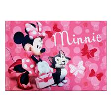 Disney Area Rug Disney Minnie Mouse Pink 4 Ft 6 In X 6 Ft 6 In Juvenile Area