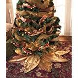 gold tree skirts seasonal décor home kitchen
