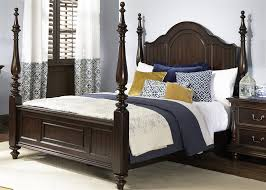 king poster bedroom set river street poster bed 6 piece bedroom set in burgundy spice finish