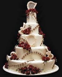 music wedding cake almost exactly what i want but all white