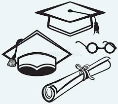 graduation accessories student accessories graduation cap points and di stock vector