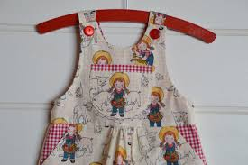girls farmyard pinafore cotton overall dress country style