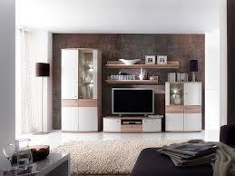 Wohnzimmerschrank In Eiche Wohnwand Lenny 5tlg Weiß Hochglanz Wohnwand Bestehend Aus 1 X