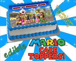 personalized cake super mario edible cake or cupcake toppers