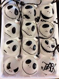 skellington ornaments one dozen