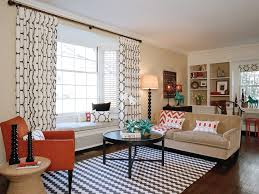 Orange And Beige Curtains Earth Tone Curtains Living Room Contemporary With Orange Chair